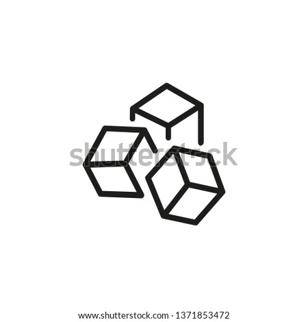 Product unit line icon. Marketing, presentation, advertising. Abstract product concept. Vector illustration can be used for topics like promotion, business, development Stockfoto ©