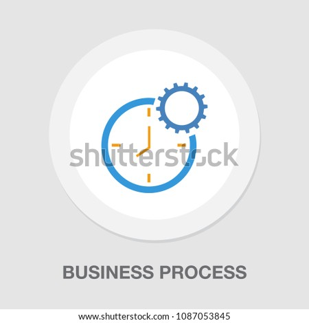 production clock icon, production planning process symbol