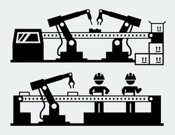 Production line - manufacturing robots