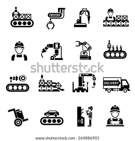 stock vector production line product manufacturing and quality control icons black set isolated vector 264886901 eurodrive wiring diagrams weg wiring diagrams wiring diagram ~ odicis sew eurodrive wiring diagrams at fashall.co