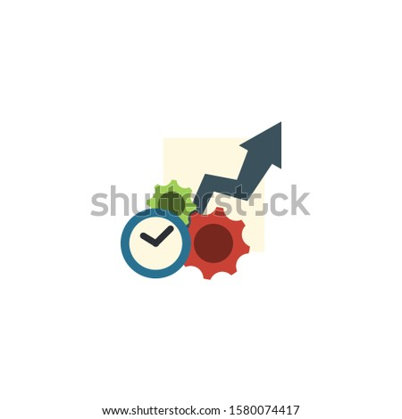 Productivity creative icon. From Entrepreneurship icons collection. Isolated Productivity sign on white background