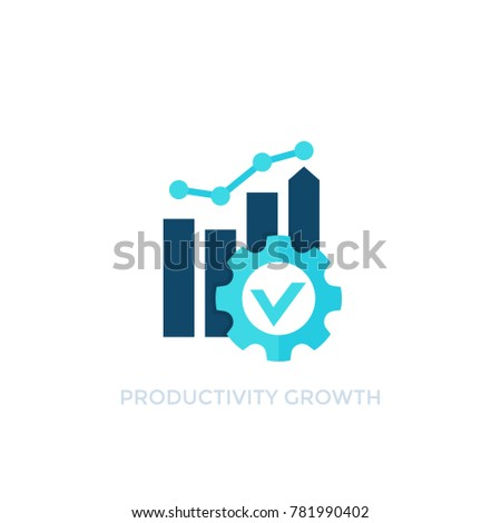 productivity growth vector icon