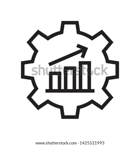 Productivity icon in trendy outline style design. Vector graphic illustration. Suitable for website design, logo, app, and ui. Editable vector stroke. EPS 10. Stock photo ©