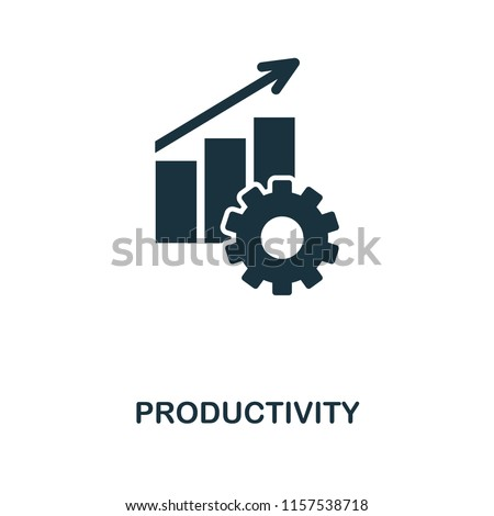 Productivity icon. Monochrome style icon design from project management icon collection. UI. Illustration of productivity icon. Ready to use in web design, apps, software, print.