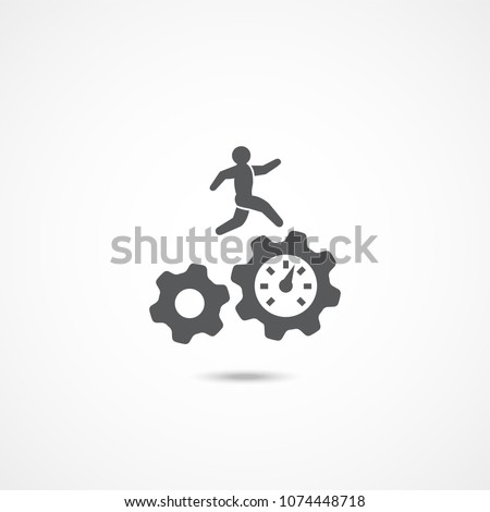 Productivity icon on white background
