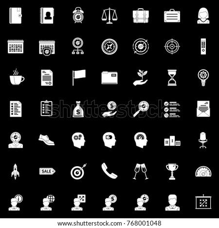 productivity icons set