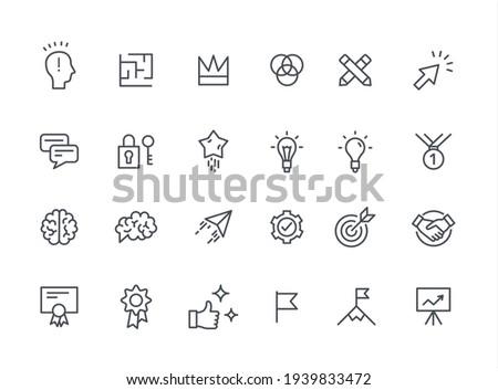 Productivity Improvement creative Icons thin vector set