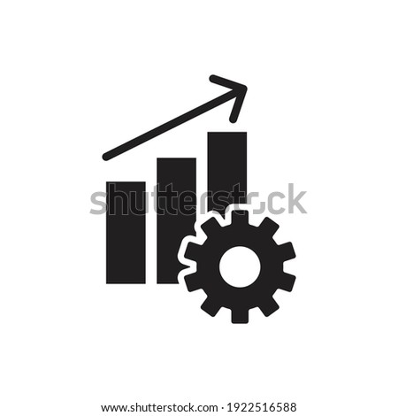 Productivity performance icon vector up arrow and gear symbol for your web site design, logo, app, UI. illustration, EPS10.  Foto stock ©