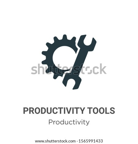 Productivity tools vector icon on white background. Flat vector productivity tools icon symbol sign from modern productivity collection for mobile concept and web apps design.