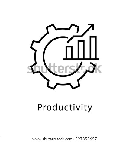 Productivity Vector line Icon  Сток-фото ©