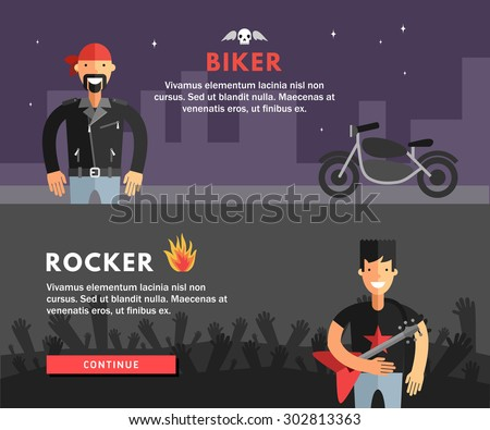 profession concept biker and
