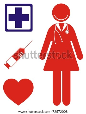 Profession nurse stock vector