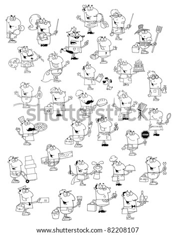 Profession people big vector collection stock vector