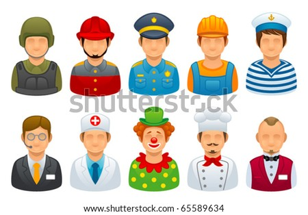 Profession set stock vector