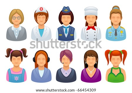 Profession set - stock vector