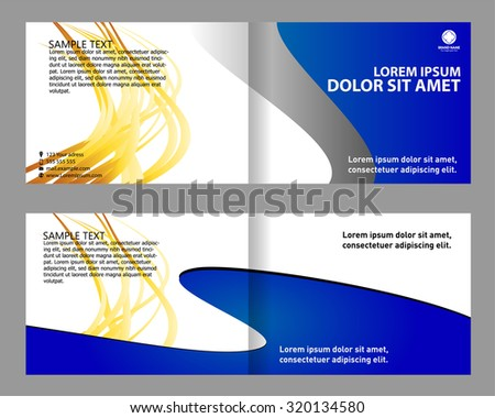 Creative Business Bi Fold Brochure Design Template  Download Free