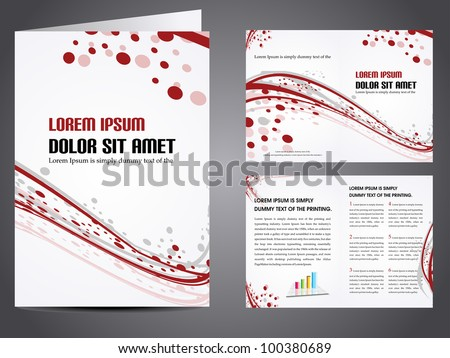 Professional business catalog template or corporate brochure design with inner pages for document, publishing, print and presentation. Vector illustration in EPS 10. #100380689