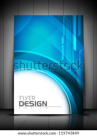 Professional business flyer template or corporate banner design can be use for publishing print and presentation EPS 10
