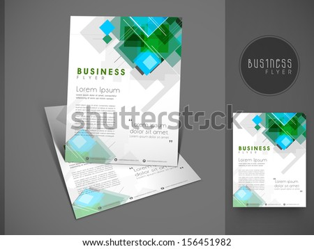 Professional business flyer template or corporate banner design can be use for publishing print and presentation