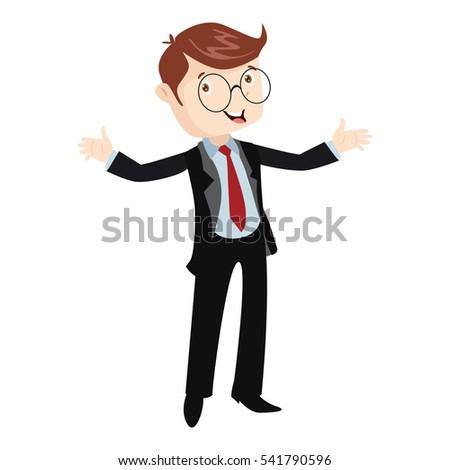 professional business man flat