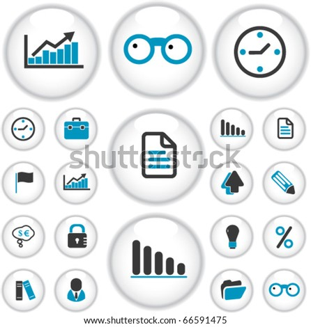 professional business presentation buttons. vector