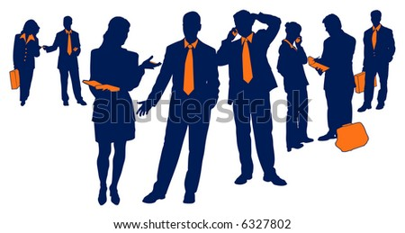 Professional Business Team, pro-active men and women.