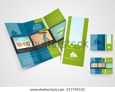 Professional Blue Business Flyer Brochure Design Template  Download