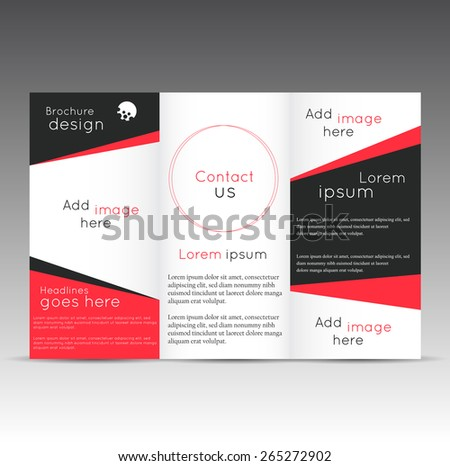 abstract creative business brochure three fold download free