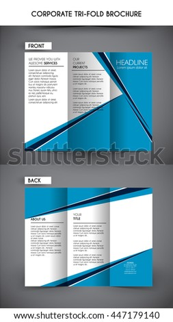 professional corporate business tri fold brochure template ez canvas