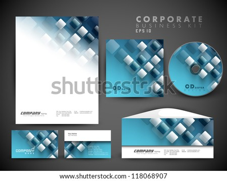 Professional corporate identity kit or business kit for your business includes CD Cover, Business Card, Envelope and Letter Head Designs in EPS 10 format.