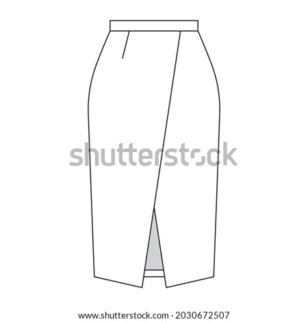 professional fashion sketch of