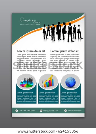 professional flyer template or corporate banner design with