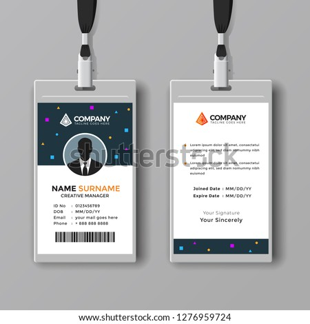 Professional ID card design template