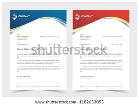 professional letterhead vector design download free vector art