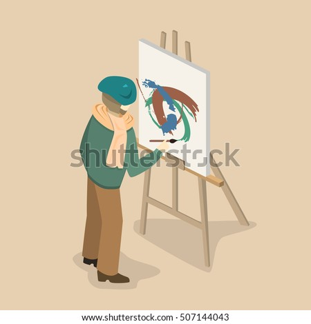 professional painter wearing a
