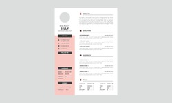 Professional Resume CV Template Layout. Curriculum Vitae Template. CV Resume with Black Vector