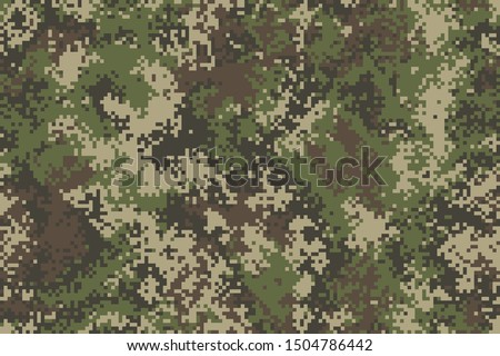 Professional seamless pixel summer camouflage for your production or design. Vector illustration. Stock photo ©