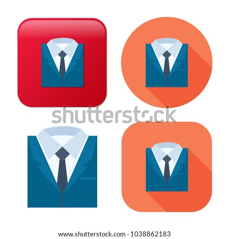 professional suit icon - business icon - business man sign - customer service icon
