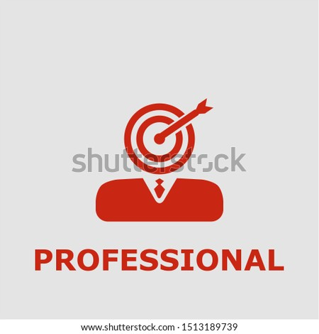 Professional symbol. Outline professional icon. Professional vector illustration for graphic art.