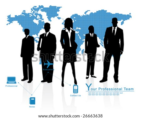 Professional Team -- Corporate Business Template Background