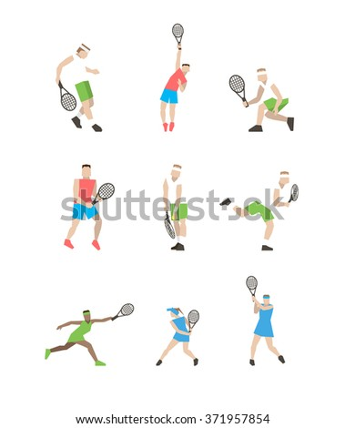 professional tennis players on
