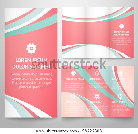 Professional Three Fold Business Flyer Template, Corporate Brochure Or  Cover Design, For Publishing,