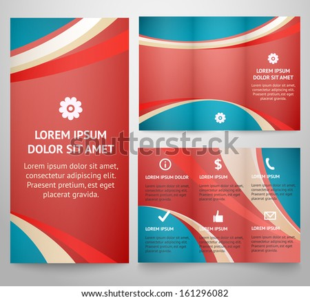 Professional Three Fold Business Flyer Template Corporate – Retro Brochure Template