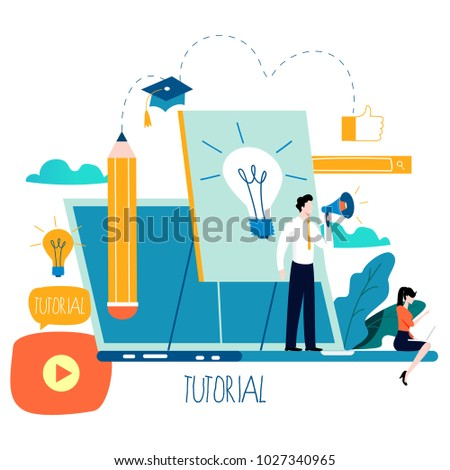 Professional training, education, online tutorial, online business courses, business presentation flat vector illustration. Expertise, skill development design for mobile and web graphics