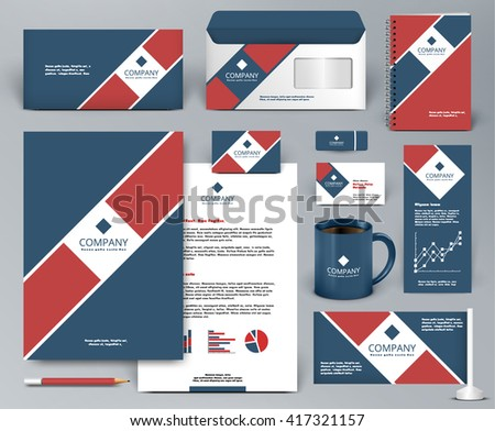 red professional business branding stationery set download free