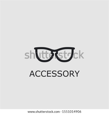 Professional vector accessory icon. Accessory symbol that can be used for any platform and purpose. High quality accessory illustration.