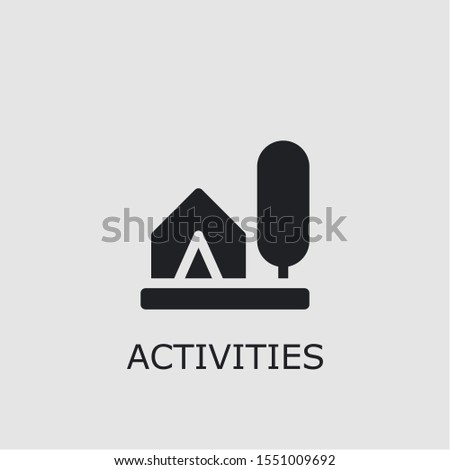 Professional vector activities icon. Activities symbol that can be used for any platform and purpose. High quality activities illustration.