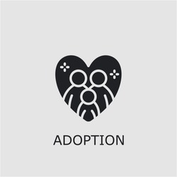Professional vector adoption icon. Adoption symbol that can be used for any platform and purpose. High quality adoption illustration.