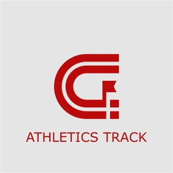 Professional vector athletics track icon. Athletics track symbol that can be used for any platform and purpose. High quality athletics track illustration.
