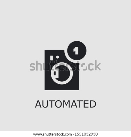 Professional vector automated icon. Automated symbol that can be used for any platform and purpose. High quality automated illustration.